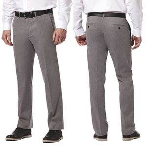 4/$25 Haggar Gray Premium No Iron Khaki